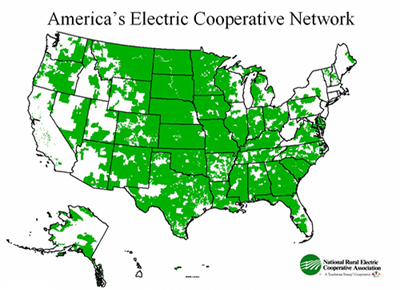 Map of America's Electric Cooperative Network